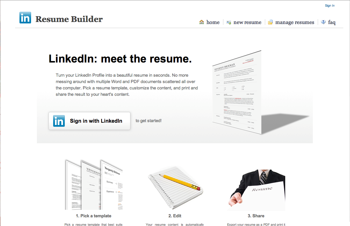 how to change resume on linkedin example